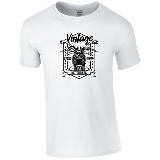 Vintage Speed Demon Motorbike T-Shirt