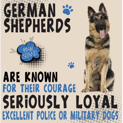 German Shepherd Metal Wall Sign