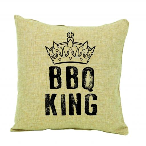 BBQ King Humour Cushion