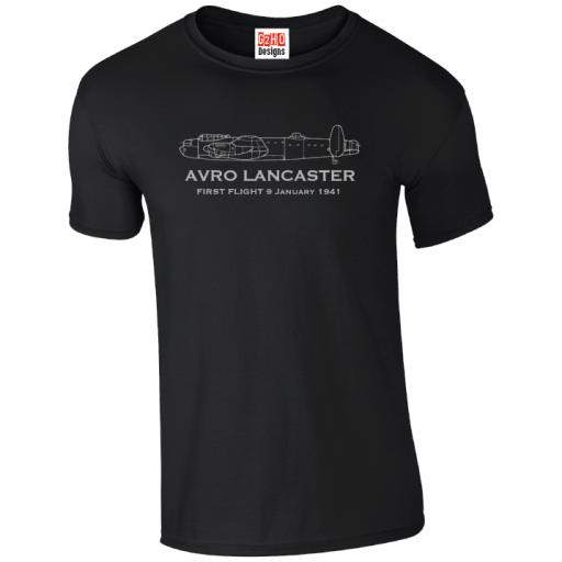T-Shirt First Flight Avro Lancaster