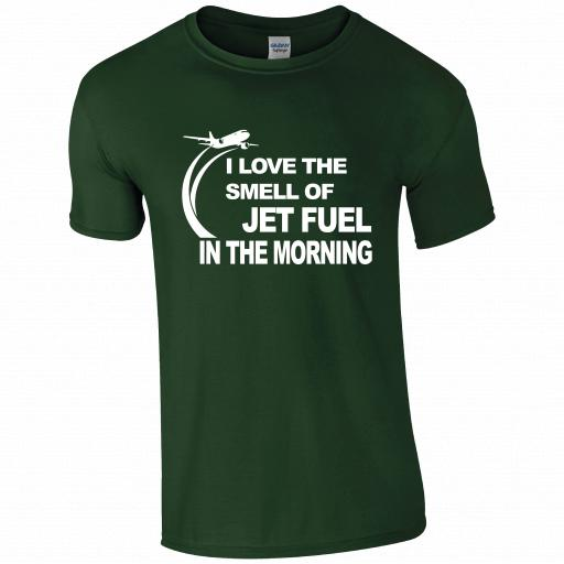I love the Smell of Jet Fuel, In The Morning Pilot Humour T-shirt