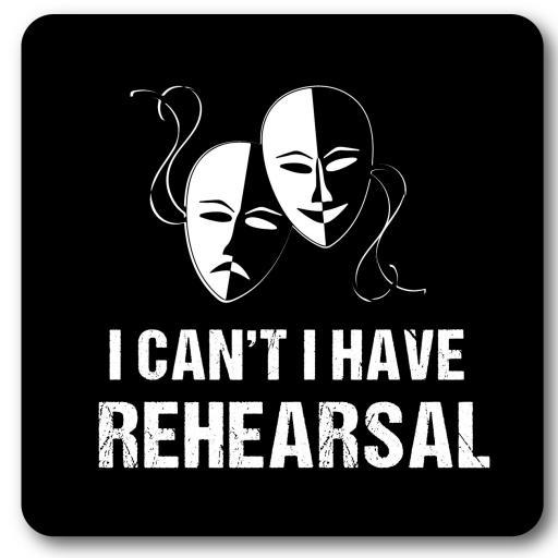 Rehearsal Music coaster