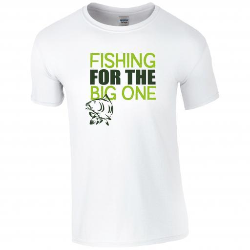 Fishing for the big one, Fishing Humour T-shirt