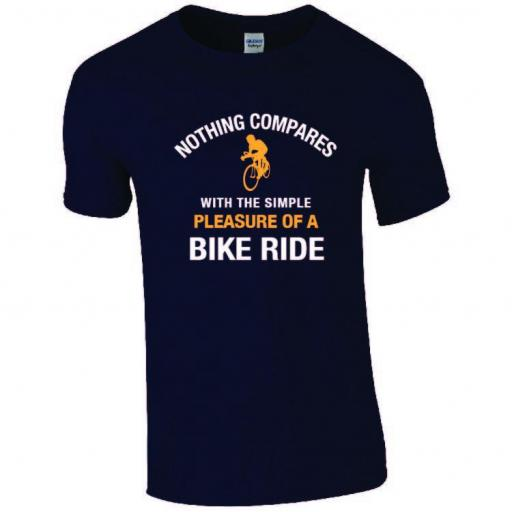 Cycling - Nothing compares with the simple pleasure of a bike ride t-shirt