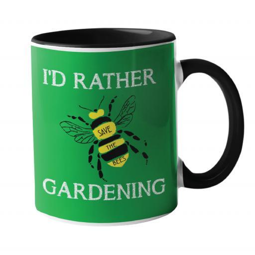 I'd rather be, Gardening Humour Mug