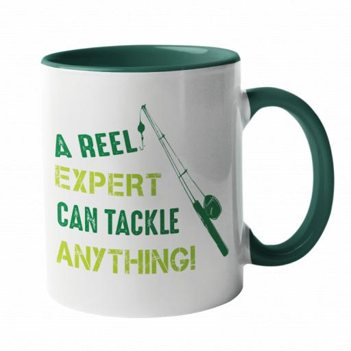 A Reel Expert can Tackle Anything, Fishing Humour Mug