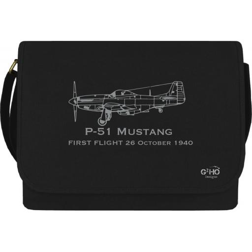 Mustang Classic First Flight Canvas Messenger Bag