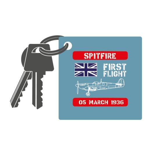 Spitfire First Flight Keyring