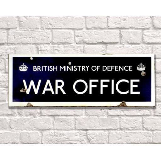 War Office Metal Sign Wall Art