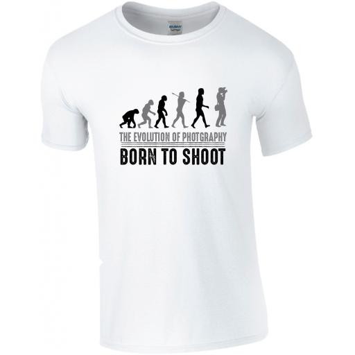 Photography - The Evolution of Photography - Born To Shoot T-Shirt