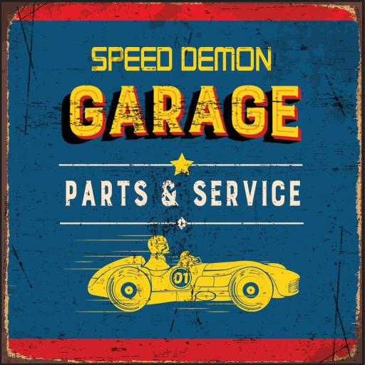 Speed Demon Garage Coaster