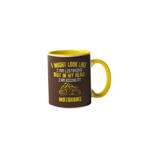 If you want me to listen, talk about motorbikes.Motorbike Humour Mug