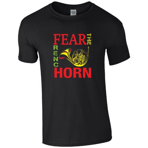 FRENCH HORN - FEAR THE FRENCH HORN T-SHIRT