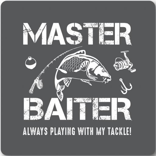 Master Baiter Fishing Humour Coaster