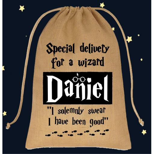Special Delivery For A Wizard Santa Sack Large