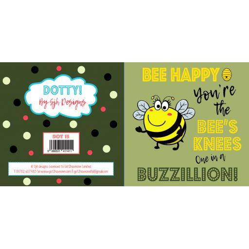 Dotty Card Range - Bee Happy Greetings Card