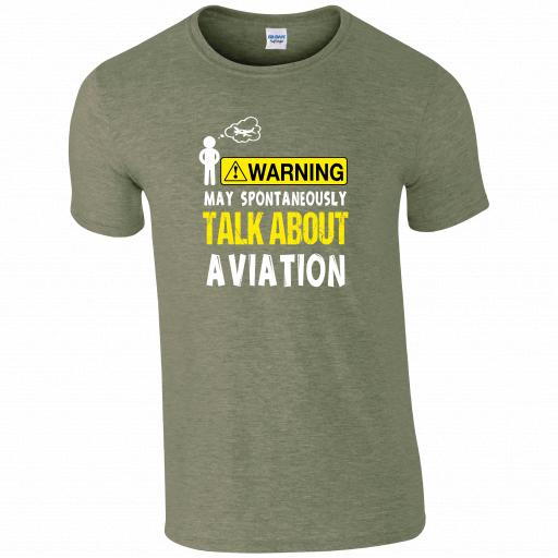 Warning, May Spontaneously Talk About Aviation Pilot Humour T-shirt
