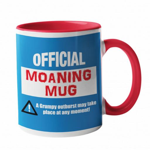 Official Moaning Mug Royal and Red