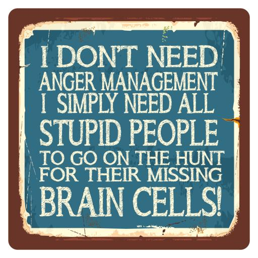 I don't need anger management, Metal Wall Sign