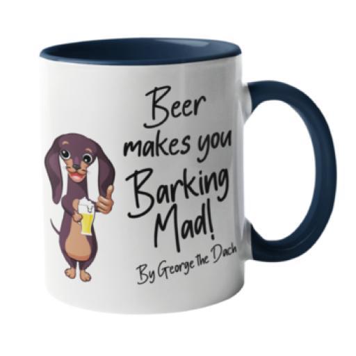 Beer makes you baking mad Dog Mug