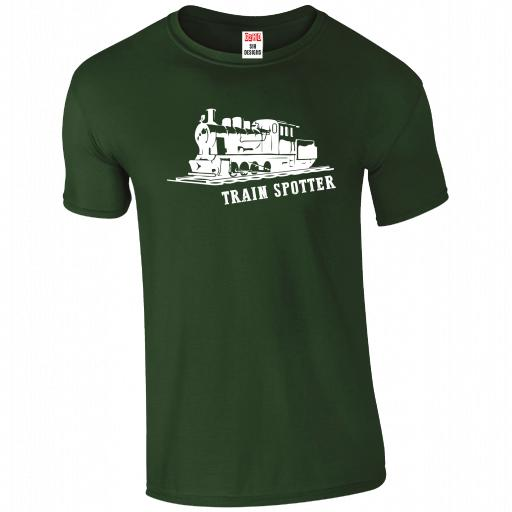 Train Spotter, The History of Trains T-Shirt