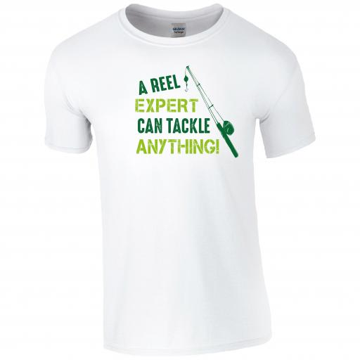 A Reel Expert Can Tackle Anything, Fishing Humour T-shirt
