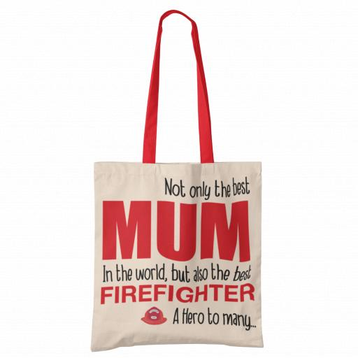 Best Mum, Firefighter Tote Bag