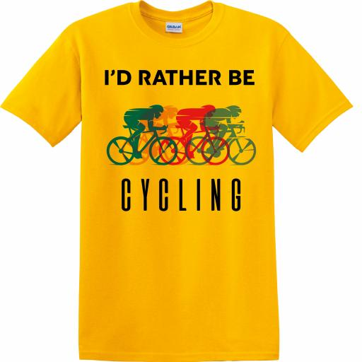 CY005 I'D Rather Be Cycling T-Shirt