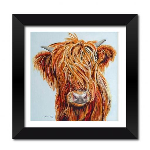 "Highland Cow 18 x 18"" Framed Print"