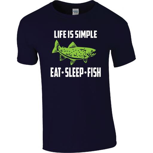 FISHING - LIFE IS SIMPLE EAT SLEEP FISH T-Shirt