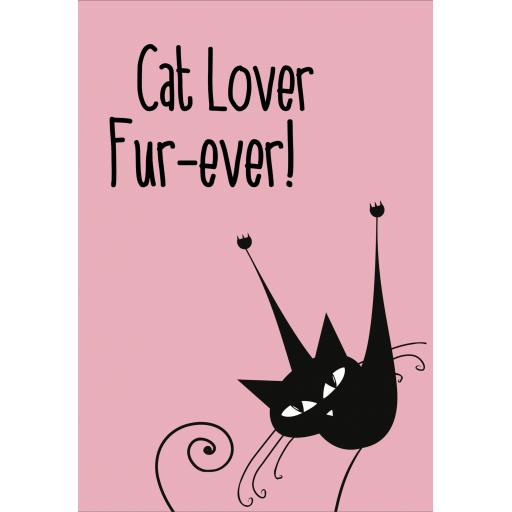 Cat lover fur-ever A5 Sign