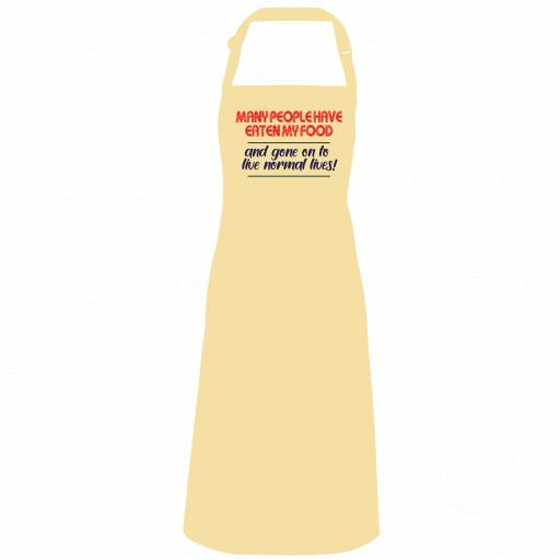 Many people have eaten my food Apron