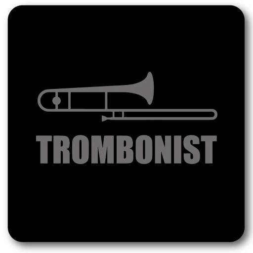 Trombonist Music coaster