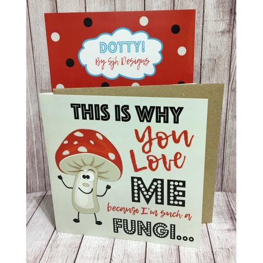 Dotty Card Range - Fungi Mushroom Greetings Card - Got2haveone