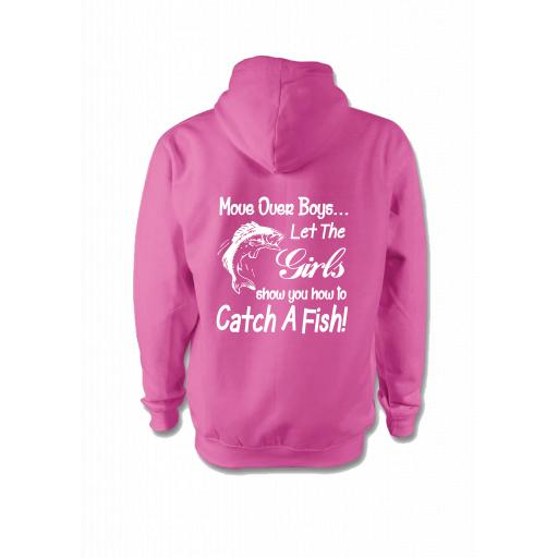 Move over boys let the girls show you how to fish Hoodie