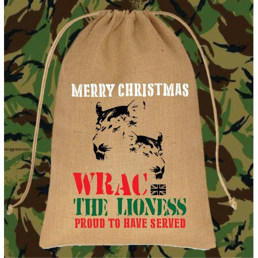 Women's Royal Army Corps Christmas Santa Sack Medium