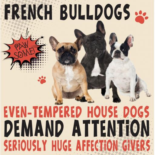 French Bulldog Metal Wall Sign