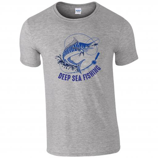 Deep Sea Fishing, Fishing Humour T-shirt
