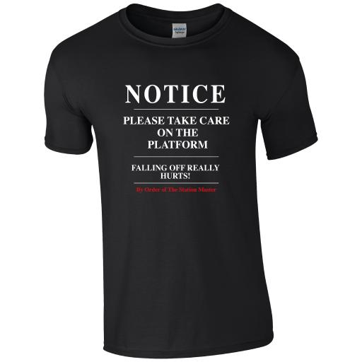 Notice do not walk along the track, The History of Trains T-Shirt