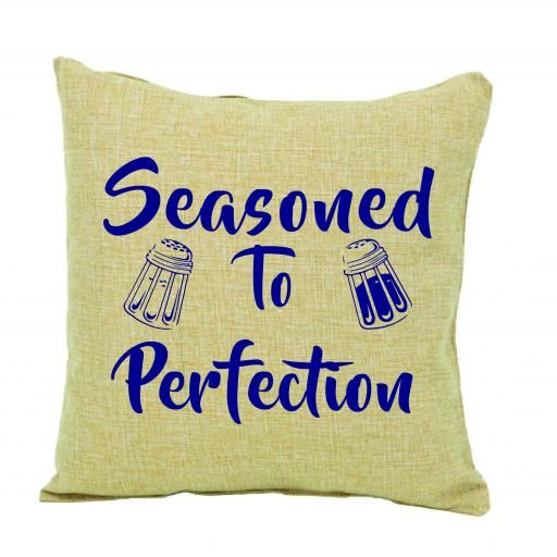 Seasoned to perfection humour cushion