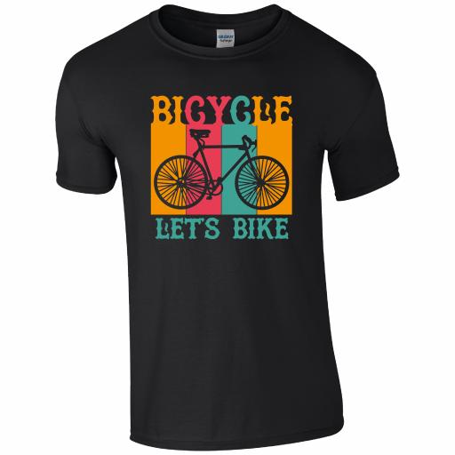 CY008 Bicycle Let's Bike T-Shirt