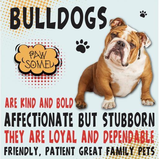 Bulldog Metal Wall Sign