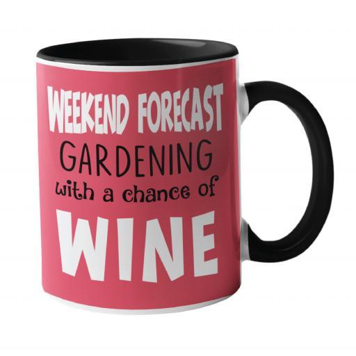 Weekend Forecast, Gardening Humour Mug