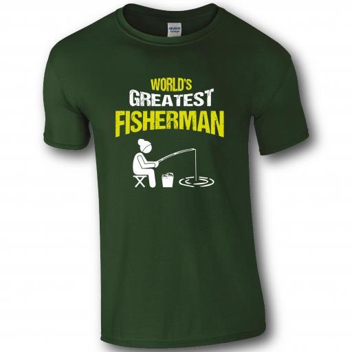 World's Greatest Fisherman, Fishing Humour T-shirt