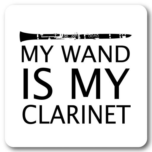 My wand is my Clarinet Music coaster