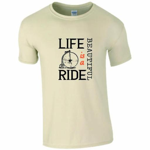 Penny Farthing Cycling T-Shirt - Life is a Beautiful Ride