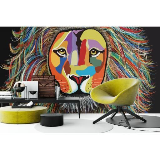 Leo The Lion Wall Sticker 3m x 2m