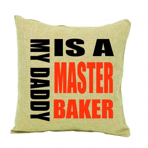Master Baker Humour Cushion