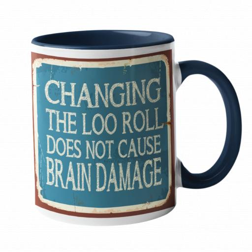 Changing The Loo Roll Humour Mug