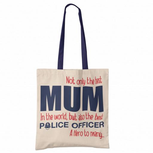 Best Mum, Best Police Officer Tote Bag